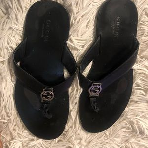 Black slips on
